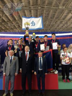 Студенты ТиМ служебно-прикладных единоборств на открытом Всероссийском турнире по комплексному единоборству.